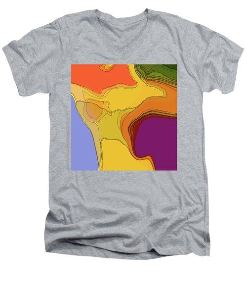 Terraced Men's V-Neck T-Shirt