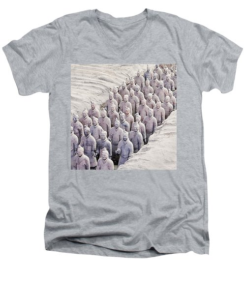 Terracotta Warriors Men's V-Neck T-Shirt