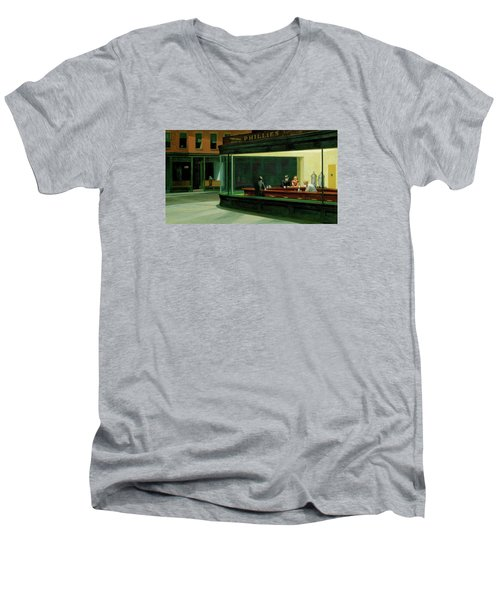 Test Mountain Men's V-Neck T-Shirt by Sean McDunn