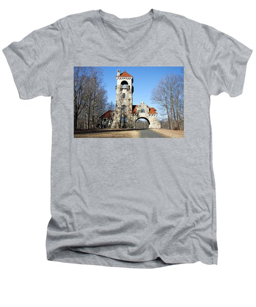 Testimonial Gateway Tower #1 Men's V-Neck T-Shirt by Jeff Severson
