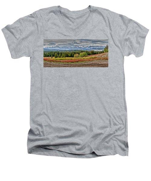 Tetons Men's V-Neck T-Shirt