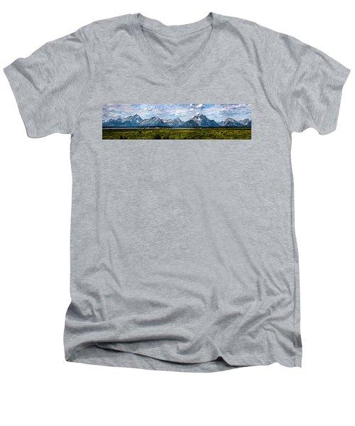 Tetons - Panorama Men's V-Neck T-Shirt