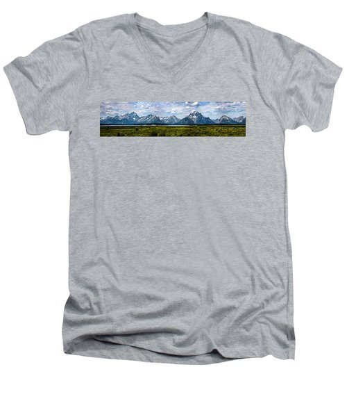 Tetons - Panorama Men's V-Neck T-Shirt