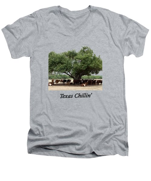 Texas Chillin T Shirt Men's V-Neck T-Shirt