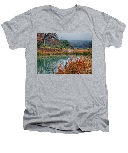 Texas Hill County Color Men's V-Neck T-Shirt