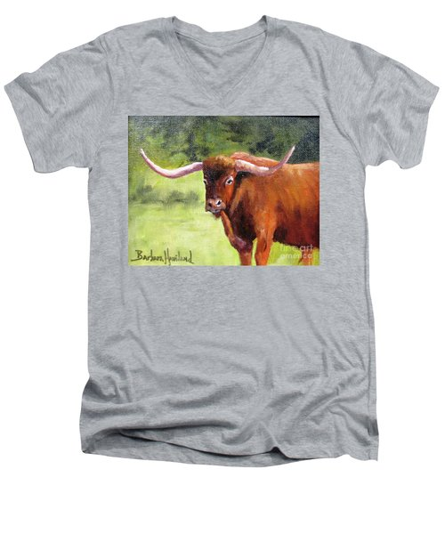 Texas Londhorn Men's V-Neck T-Shirt