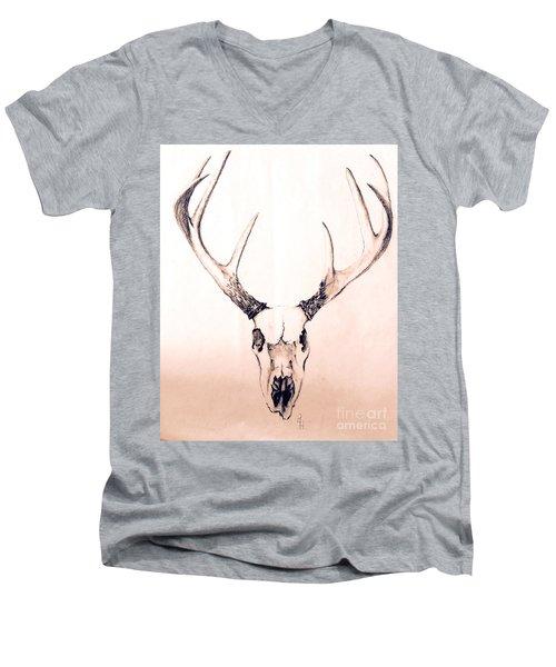 Texas Mount Deer Men's V-Neck T-Shirt
