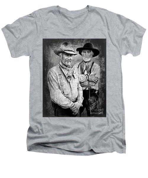 Texas Rangers Gus And Woodrow Paint Edit Men's V-Neck T-Shirt
