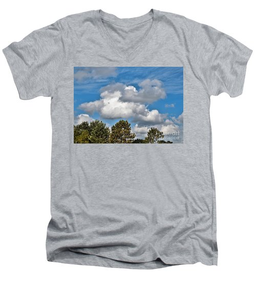 Men's V-Neck T-Shirt featuring the photograph Texas - Reach For The Sky.   by Ray Shrewsberry