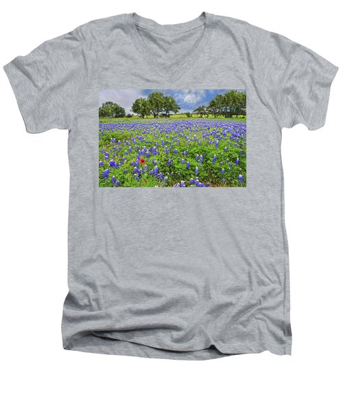 Texas Spring  Men's V-Neck T-Shirt