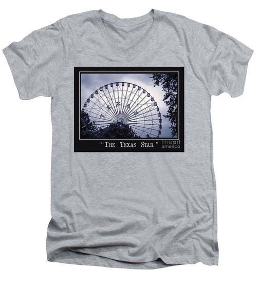 Texas Star In Blue Men's V-Neck T-Shirt