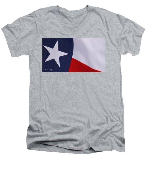 Texas Star Men's V-Neck T-Shirt