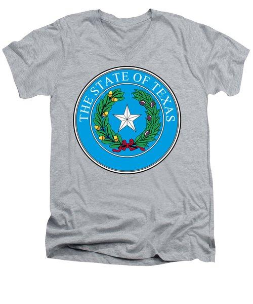 Texas State Seal Men's V-Neck T-Shirt