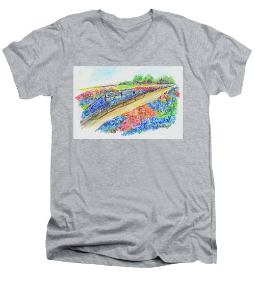 Texas Wild Flowers Men's V-Neck T-Shirt