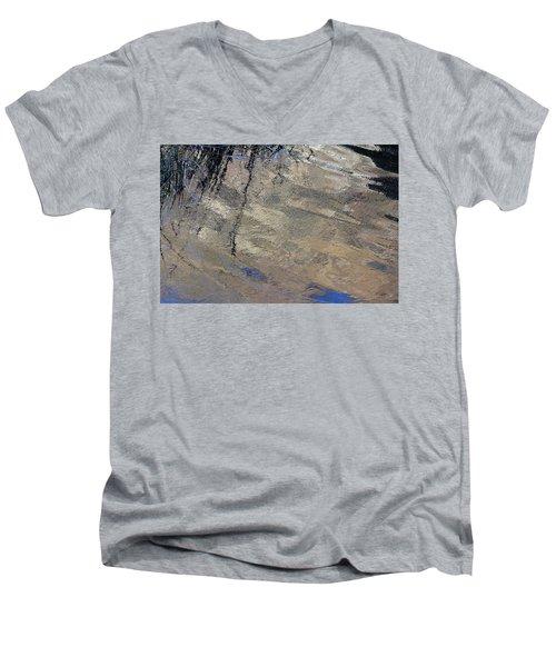 Texture In Grey Men's V-Neck T-Shirt
