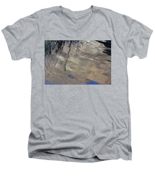 Texture In Grey Men's V-Neck T-Shirt