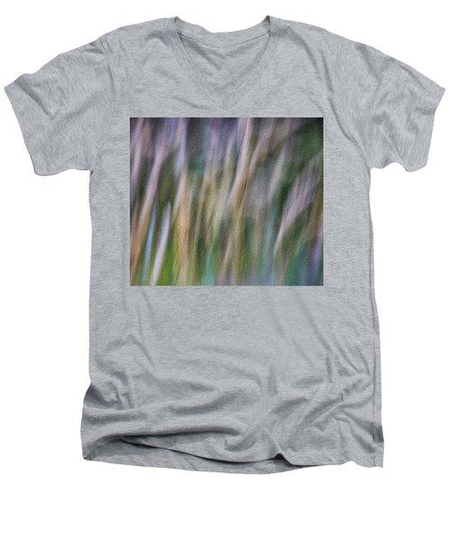 Textured Abstract Men's V-Neck T-Shirt