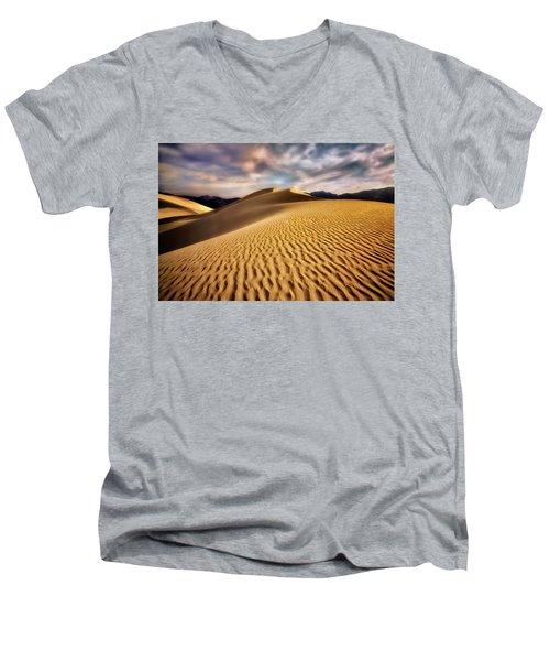 Textured Dunes  Men's V-Neck T-Shirt
