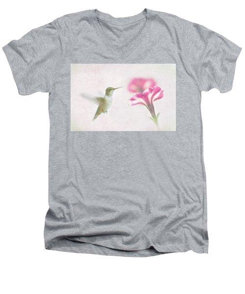 Textured Hummer Men's V-Neck T-Shirt