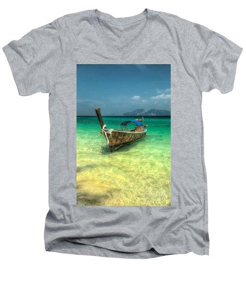 Thai Longboat  Men's V-Neck T-Shirt