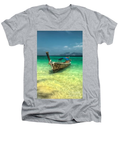 Thai Longboat  Men's V-Neck T-Shirt