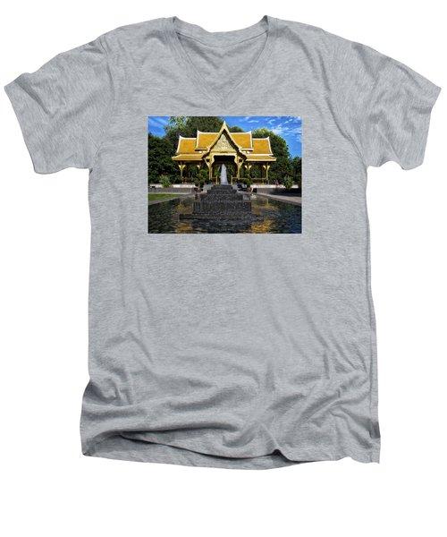 Thai Pavilion - Madison - Wisconsin Men's V-Neck T-Shirt