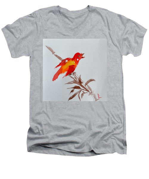 Thank You Bird Men's V-Neck T-Shirt