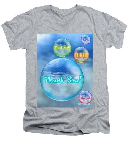 Thank You Bubbles Men's V-Neck T-Shirt