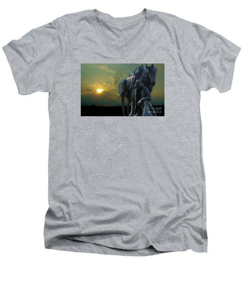 Thanks For The Rain  Men's V-Neck T-Shirt by Janette Boyd