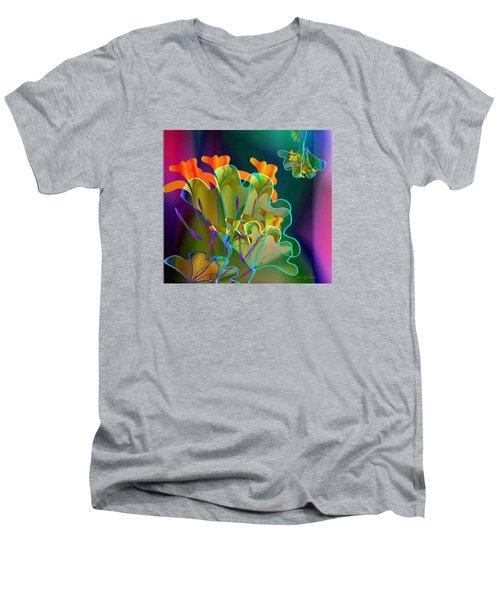 Thanksgiving Bouquet Men's V-Neck T-Shirt by Iris Gelbart
