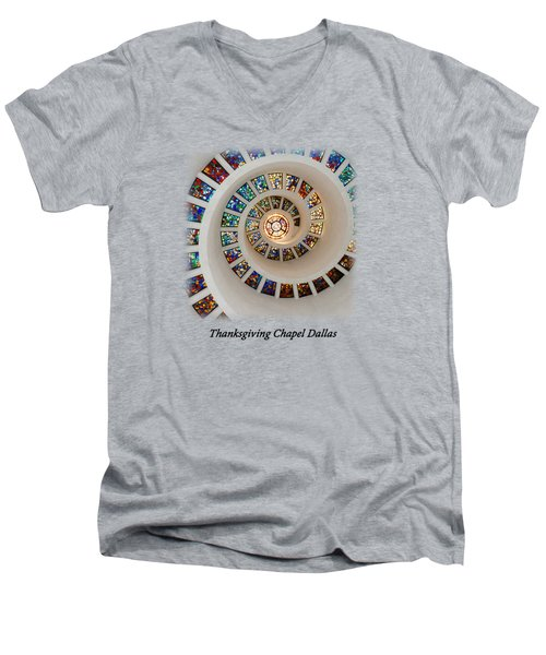 Thanksgiving Stained Glass V2 T-shirt Men's V-Neck T-Shirt