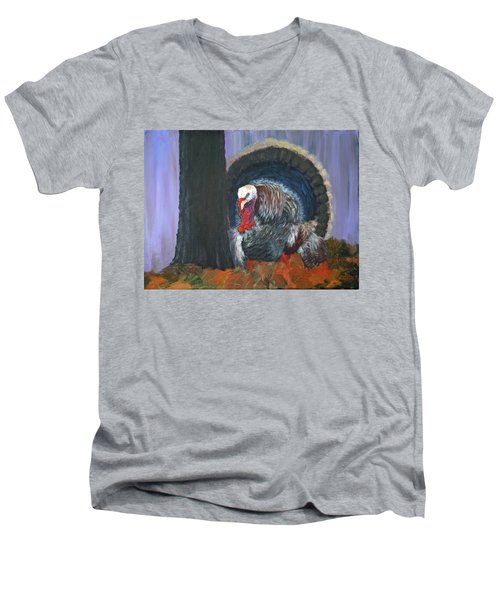 Thanksgiving Turkey Men's V-Neck T-Shirt