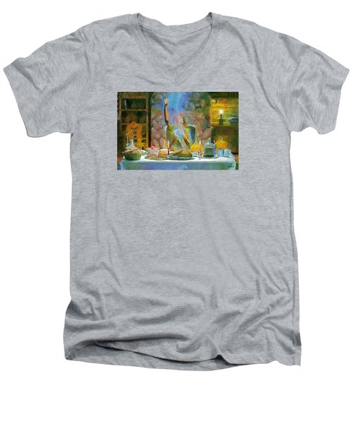 Thanksgiving Men's V-Neck T-Shirt by Wayne Pascall