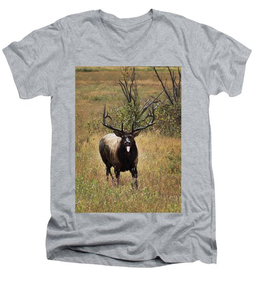 Men's V-Neck T-Shirt featuring the photograph That Moment When by Shane Bechler