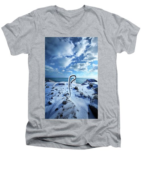 Men's V-Neck T-Shirt featuring the photograph That One Weird Thing by Phil Koch
