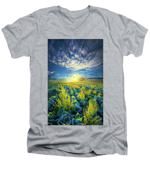 That Voices Never Shared Men's V-Neck T-Shirt by Phil Koch