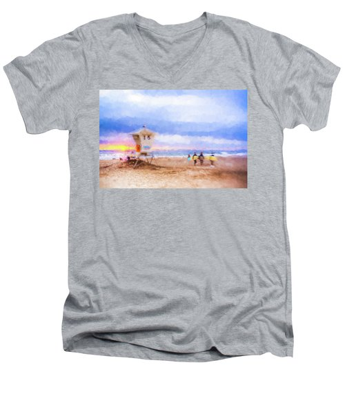 That Was Amazing Watercolor Men's V-Neck T-Shirt