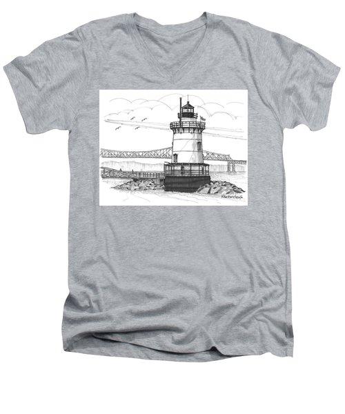 The 1883 Lighthouse At Sleepy Hollow Men's V-Neck T-Shirt