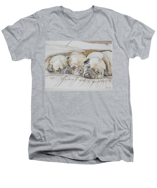 The 3 Puppies Men's V-Neck T-Shirt