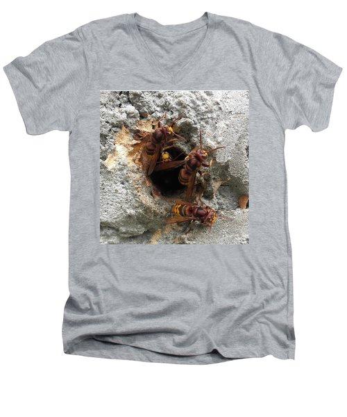 The 4 Hornets Men's V-Neck T-Shirt