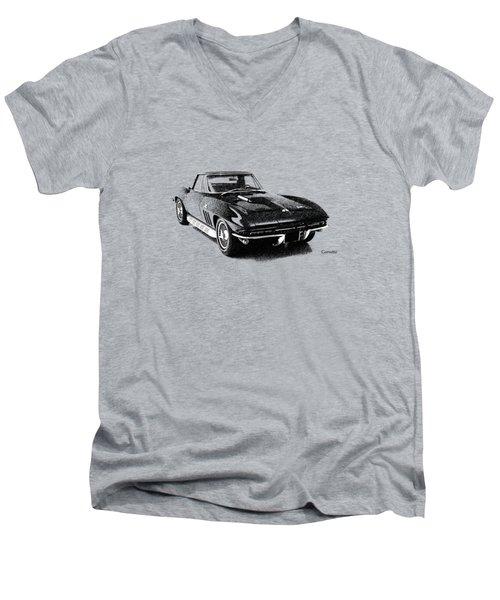 The 66 Vette Men's V-Neck T-Shirt by Mark Rogan