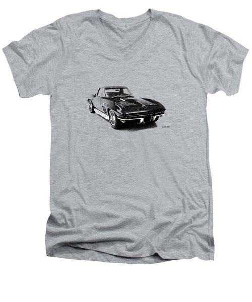 The 66 Vette Men's V-Neck T-Shirt