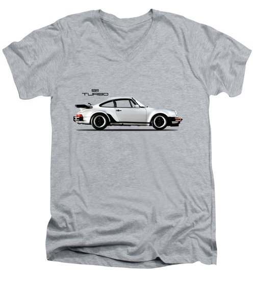 The 911 Turbo 1984 Men's V-Neck T-Shirt by Mark Rogan