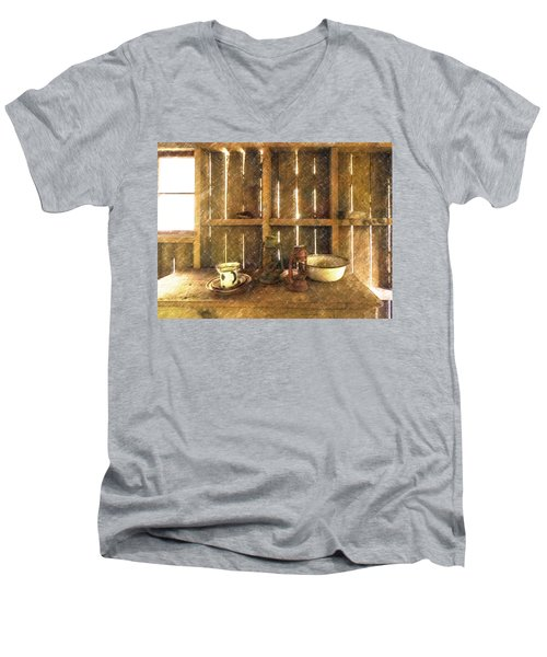 The Abandoned Cabin Men's V-Neck T-Shirt