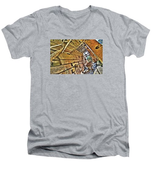 The Abandoned Furnace Quarry Building Men's V-Neck T-Shirt