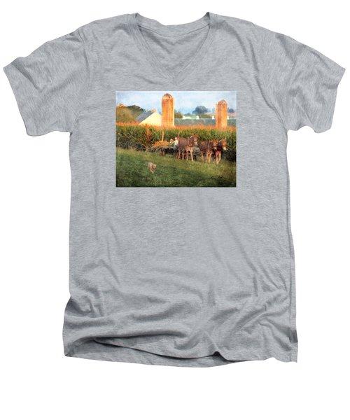 The Abundant Harvest Men's V-Neck T-Shirt