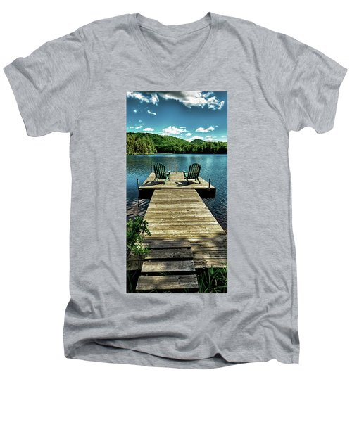 The Adirondacks Men's V-Neck T-Shirt