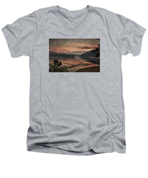 The Adventure Begins Men's V-Neck T-Shirt by Loni Collins