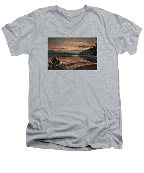 The Adventure Begins Men's V-Neck T-Shirt