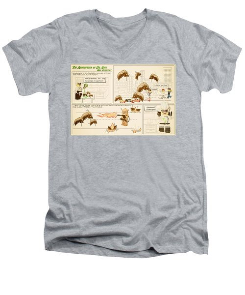 Men's V-Neck T-Shirt featuring the photograph The Adventures Of Dr Ogel by Mark Fuller